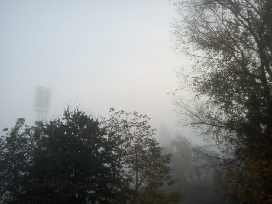 Стадіон у тумані