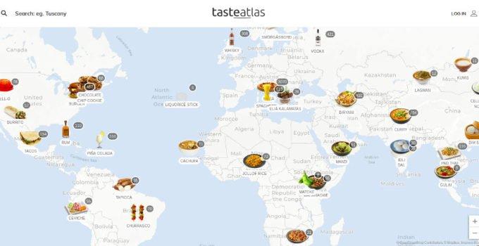 карта страви різних країн та регіонів